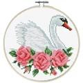 Needleart World Rose Swan No Count Cross Stitch Kit