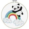 Needleart World Rainbow Panda No Count Cross Stitch Kit
