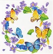 Needleart World Summer Wreath Floral No Count Cross Stitch Kit