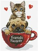 Needleart World Friends Forever No Count Cross Stitch Kit