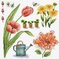 Needleart World Garden Sampler 1 Floral No Count Cross Stitch Kit