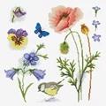 Needleart World Garden Sampler 2 Floral No Count Cross Stitch Kit