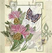 Needleart World Thistle Bouquet Floral No Count Cross Stitch Kit
