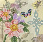 Needleart World Butterfly Garden Floral No Count Cross Stitch Kit