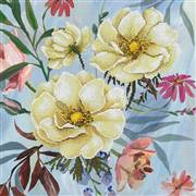 Needleart World Wild Rose Bouquet Floral No Count Cross Stitch Kit