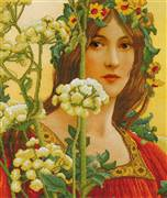 Needleart World Our Lady of Cow Parsley No Count Cross Stitch Kit