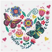 Needleart World Love Garden Floral No Count Cross Stitch Kit