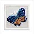 Needleart World Blue Butterfly Punch Needle Kit