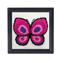 Needleart World Pink Butterfly Punch Needle Kit