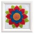 Needleart World Flower Mandala Floral Punch Needle Kit