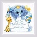 RIOLIS Hello Little One - Boy Birth Sampler Cross Stitch Kit