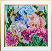 VDV Irises and Bumblebees Floral Embroidery Kit