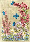 Panna Lupins and Butterflies Floral Embroidery Kit