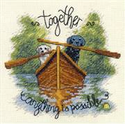 Dimensions Together Dogs Cross Stitch Kit