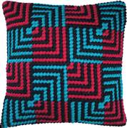 Needleart World Blue and Red Bargello Tapestry Kit