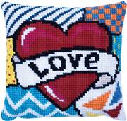 Needleart World Patchwork Love No Count Cross Stitch Kit