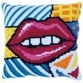 Needleart World Patchwork Kiss No Count Cross Stitch Kit