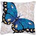 Needleart World Blue Butterfly No Count Cross Stitch Kit