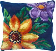 Needleart World Evening Bloom Floral No Count Cross Stitch Kit