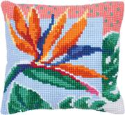 Needleart World Bird of Paradise Floral No Count Cross Stitch Kit