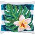 Needleart World Frangipanni Shade Floral No Count Cross Stitch Kit
