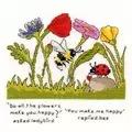 Bothy Threads You Make Me Happy Cross Stitch Kit