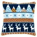 Vervaco Winter Motifs Deer Cushion Christmas Cross Stitch Kit
