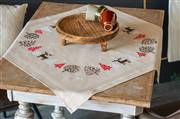 Vervaco Modern Christmas Tablecloth Embroidery Kit