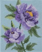Anchor Purple Peony Floral Tapestry Kit