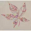 Anchor Leaf Stitch Sampler Floral Embroidery Kit
