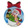 Orchidea Snowman Bauble Rug Latch Hook Christmas Rug Kit