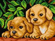Orchidea Two Puppies Tapestry Kit