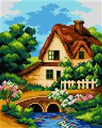 Orchidea Landscape with Creek Tapestry Kit