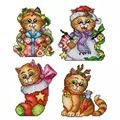 Orchidea Christmas Cats Ornaments Cross Stitch Kit