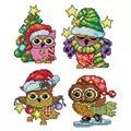 Orchidea Christmas Owl Ornaments Cross Stitch Kit
