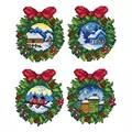 Orchidea Winter Wreath Ornaments Christmas Cross Stitch Kit Cross Stitch