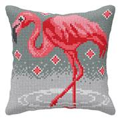 Orchidea Flamingo Cushion Cross Stitch Kit