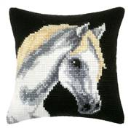Orchidea Grey Horse Cushion Cross Stitch Kit