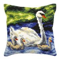 Orchidea Swan Family Cushion Cross Stitch Kit