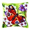 Orchidea Peacock Butterfly Cushion Cross Stitch Kit
