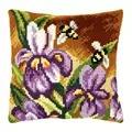 Orchidea Iris and Bees Cushion Cross Stitch Kit