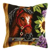 Orchidea Horse in Stable Cushion Cross Stitch Kit