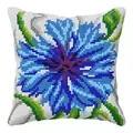 Orchidea Cornflower Cushion Floral Cross Stitch Kit