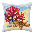 Orchidea Coral and Starfish Cushion Cross Stitch Kit