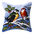 Orchidea Winter Birds Cushion Christmas Cross Stitch Kit