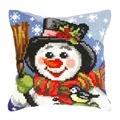Orchidea Snowman Cushion Christmas Cross Stitch Kit