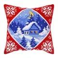 Orchidea Moonlit Cabin Cushion Christmas Cross Stitch Kit
