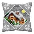 Orchidea Winter Landscape Cushion Christmas Cross Stitch Kit