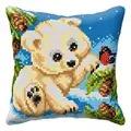Orchidea Polar Bear Cub Cushion Christmas Cross Stitch Kit