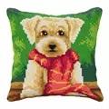 Orchidea Puppy in a Scarf Cushion Cross Stitch Kit